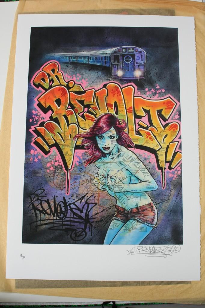 Street art Revolt miss subway